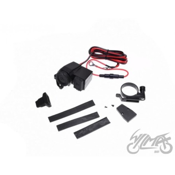 Gniazdo zapalniczki + USB motocykl