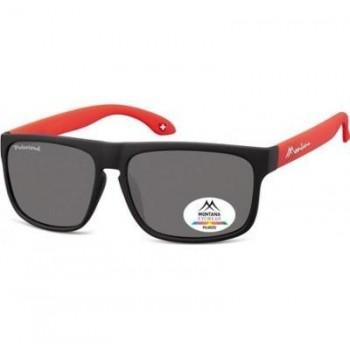 Okulary przeciwsłoneczne Montana MP37B black/red