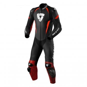 jednoczęściowy kombinezon motocyklowy REV'IT! Triton black-neon-red