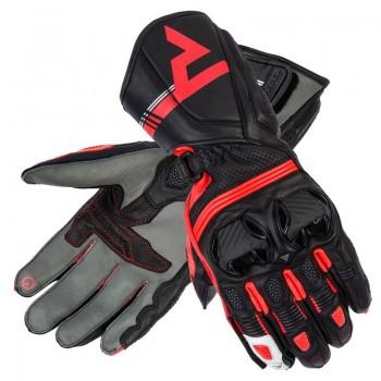 Rebelhorn ST Long - flo red - sportowe rękawice motocyklowe ze skóry z kangura