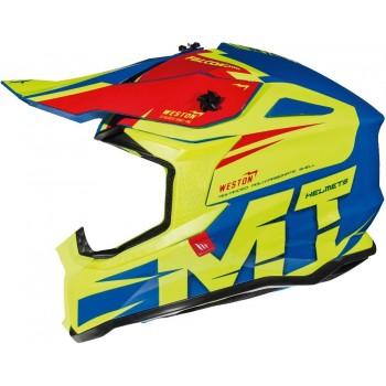Kask MT Helmets Falcon Weston - fluo/blue/red