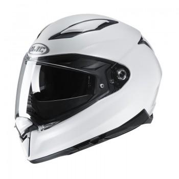 HJC F70 - integralny kask z włókna szklanego, na wyposażeniu z blenda oraz dużym polem widzenia