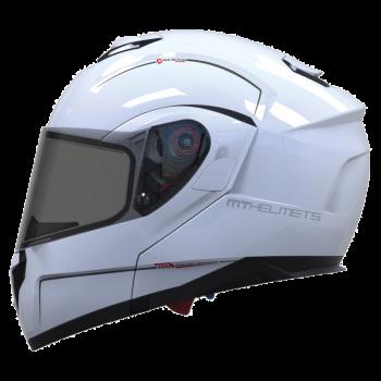MT Helmets Atom kask szczękowy blenda przeciwsłoneczna podwójna homologacja skorupa policarbon