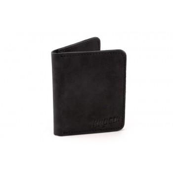 Broger Alaska - vintage black - portfel skórzany z kieszeniami na karty i banknoty