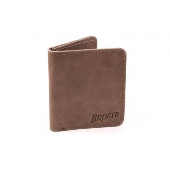 Broger Alaska - vintage brown - portfel skórzany z kieszeniami na karty i banknoty