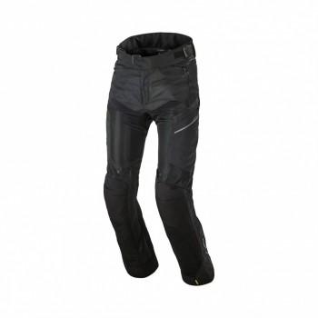 Spodnie tekstylne długie przewiewne panele siatkowe mesh ochrona kolan certyfikowane protektory