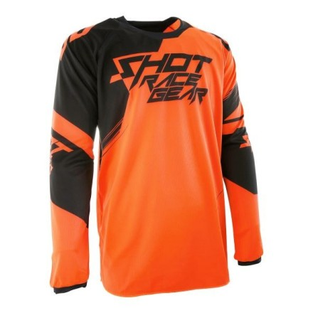 Shot Contact Claw - neon orange/black - bluza crossowa