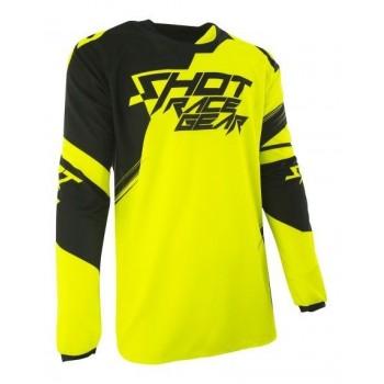 Shot Contact Claw - neon yellow/black - bluza crossowa