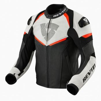 Skórzana sportowa perforowana kurtka z protektorami 2 poziomu i dużą perforacją