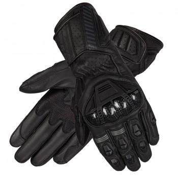 Długie rękawice w stylu sportowym wykonane z skóry koziej