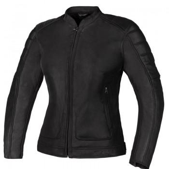 Klasyczna, skórzana damska kurtka motocyklowa